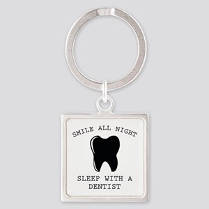 Smile All Night Square Keychain